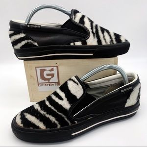 CONVERSE Unisex Zebra Faux Fur Slip On